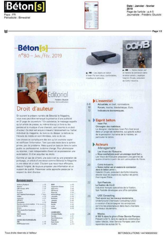 thumbnail of 2019-02-06-BETON(S) LE MAGAZINE-Janvier – fevrier 2019-10000000056047441